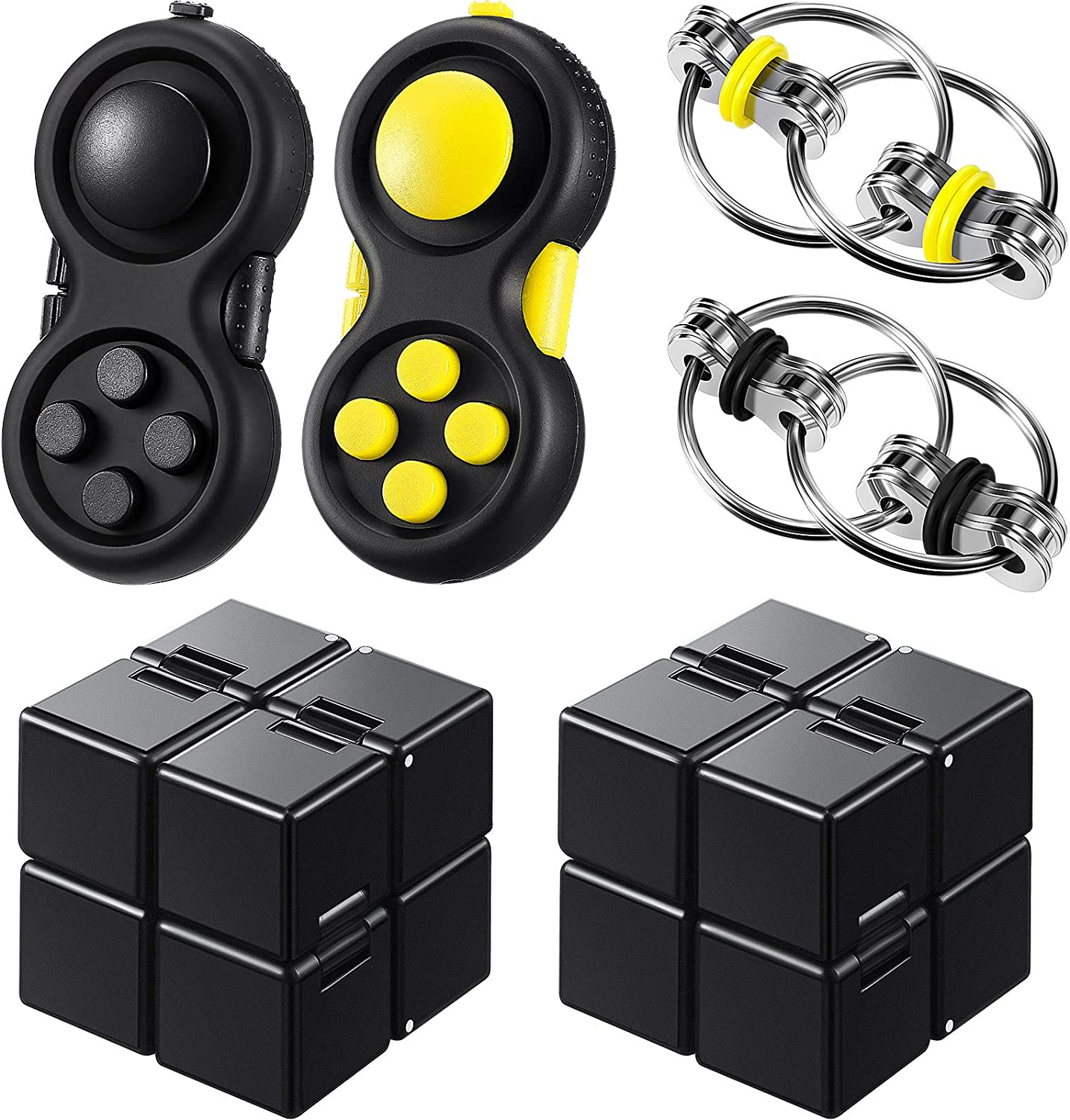 6 Pieces Mini Handheld Fidget New Free Shipping Set wholesale Including Toy Infinity