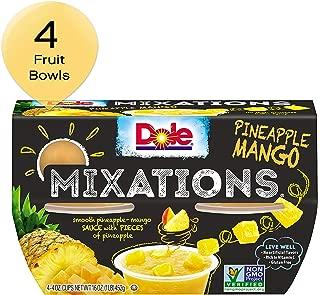 DOLE FRUIT BOWLS, MIXATIONS Pineapple Mango, 4 Ounce (4 Cups)