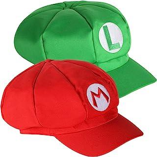 Super Mario Odyssey Chapeau 3X Ensemble de Costume pour Adultes et Enfants Parfait pour Le Carnaval et Le Cosplay