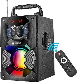 Tragbare Bluetooth-Lautsprecher mit Subwoofer, lautes Stereo, ausdrucksstarker Bass, kabellose Bluetooth-Außenlautsprecher mit bunten Partylichtern, Heimlautsprecher für Telefoncomputer