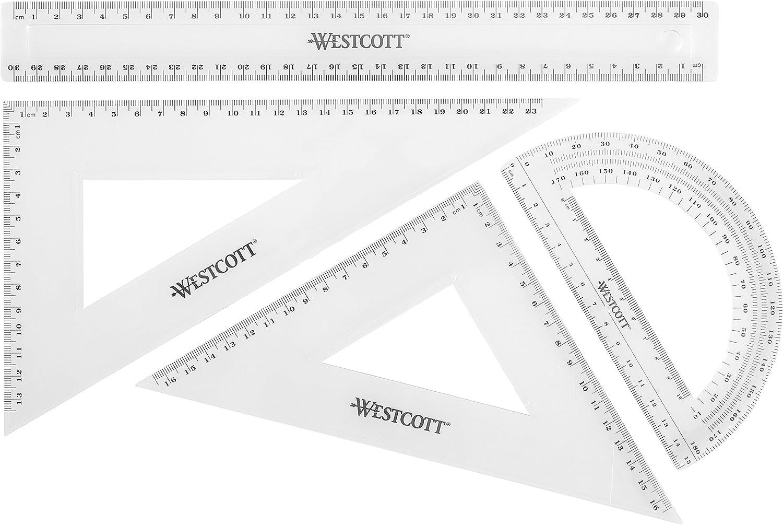Westcott E-10304 00 Math Reservation Set Pack Regular store 4 - Transparent of