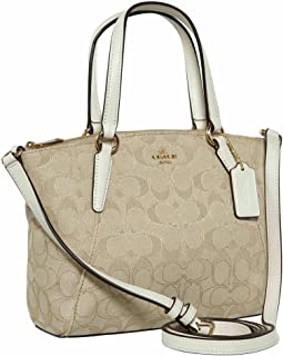 Coach Outline Signature Mini Kelsey Crossbody Satchel Bag