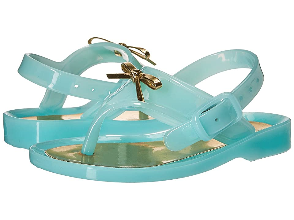 Baby Deer First Steps Jelly Thong Sandal with Bow (Infant/Toddler) (Turquoise) Girls Shoes