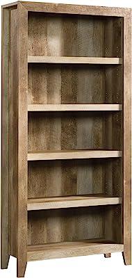 Sauder Dakota Pass 5-Shelf Bookcase, Craftsman Oak finish