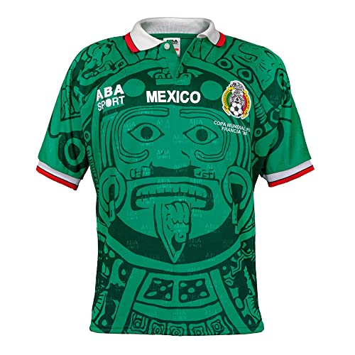 00ac93022f4 ABA Sport Mexico Authentic 1998 World Cup Soccer Jersey