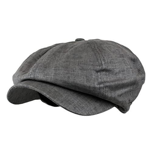 Wonderful Fashion Men s Linen 8 Panel Applejack Gatsby newsboy IVY Hat 2dc7bf09b088