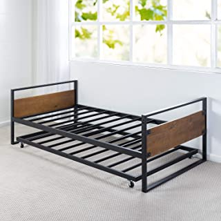 Zinus Ironline Twin Daybed and Trundle Frame Set/Premium Steel Slat Support/Daybed and