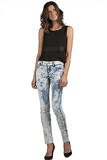 Womens Stretch Polka Dot Extreme Wash Skinny Premium Jeans