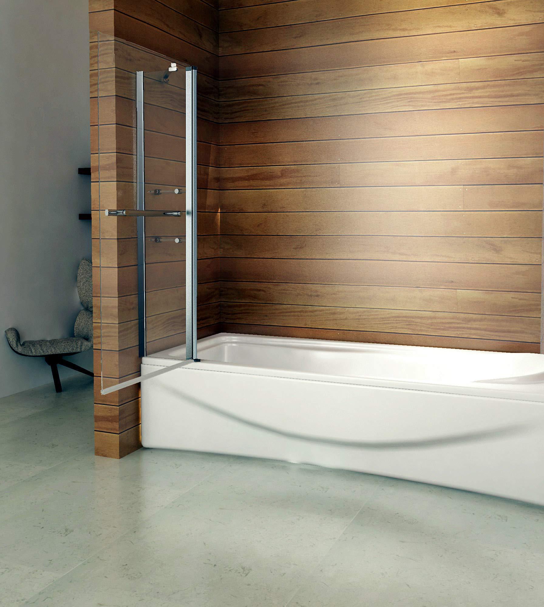 140 x 120 cm Mampara de bañera plegable pared ducha de pared para bañera (VGN-C2S H12): Amazon.es: Bricolaje y herramientas
