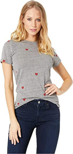 Tiny Hearts Tri-Blend Slim Tee