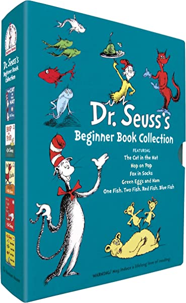 Dr Seuss S Beginner Book Collection Cat In The Hat One Fish Two Fish Green Eggs And Ham Hop On Pop Fox In Socks