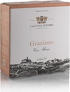 """Cantine Povero - Bag In Box 5 lt. Vino Rosso da Uve Grignolino""""Grazioso"""" 12°"""