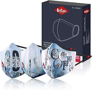 LEE COOPER Unisex-Adult Polyester Mask (LCMSKMONO1PO3_Grey_Regular)