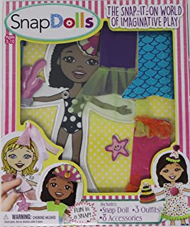 SnapDolls - Cloth Dress Up Paper Dolls for Pretend Play and Hand Eye Coordination (Zoey)