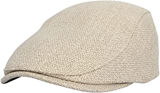 WITHMOONS Ivy Cap Straw Weave Linen-Like Cotton Cabbie Newsboy Hat MZ30038