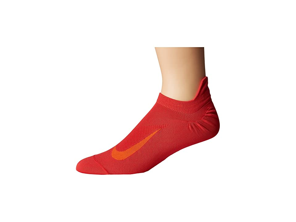 Nike Elite Running Lightweight No Show (Track Red/Total Orange) No Show Socks Shoes