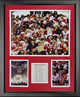 Legends Never Die Detroit Red Wings 2002 NHL Champions Framed Photo Collage, 16