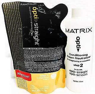 Matrix Opti. Straight Resistant Straightening Cream (125 ML) & Neutralizer (125 ML) ÿÿ(Set of 2)