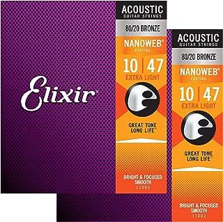 Elixir Nanoweb Extra Light Acoustic Guitar Strings 2-Pack