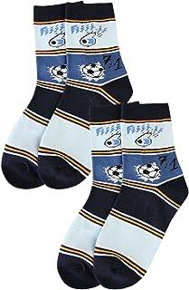 Weri Spezials, Juego de 2 calcetines para aficionados 7:1. La fantástica historia del fútbol. Azul Marino/Azul Vaquero Medium