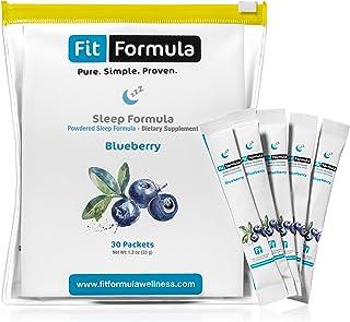 FitFormula Blueberry Flavored Sleep Formula – Medicinal Sleep Aids – Contains Melatonin – Natural Sleep Aid – 30 Servings ...