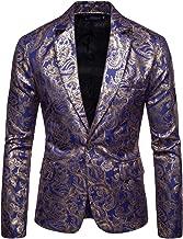 COOFANDY Men's Metallic Suit Jacket Luxury Stylish Slim Fit Blazer One Button Sport Coat