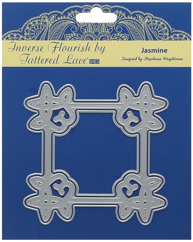 Tattered Lace Inverse Flourish Jasmine Die, Metal Silver, 12.8 x 12.8 x 0.03 cm