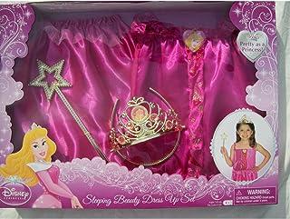 طقم فستان الأميرة النائمة بيوتي أورورا من ديزني، مقاس 4-6 (لوازم حفلات أميرات ديزني).