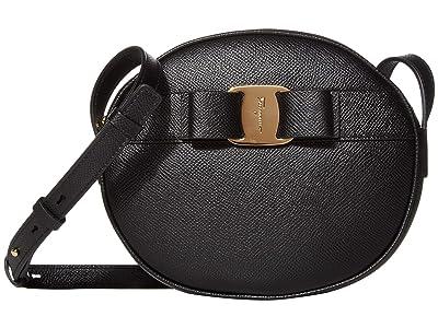 Salvatore Ferragamo Vara Circle Crossbody (Nero) Handbags