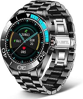 LIGE Smartwatch Uomo da 1,3 Pollici, con Touch Screen, Pressione Arteriosa, Orologio Fitness Impermeabile IP68 in Acciaio ...