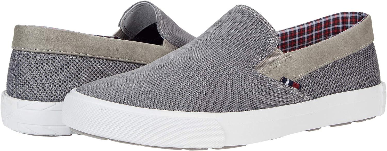 Ben Sherman Men's Fashion Slip On Sneaker Shoe Pete Slip On – Grey Knit