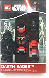 LEGO Star Wars Darth Vader Kids Buildable Watch with Link Bracelet and Minifigure