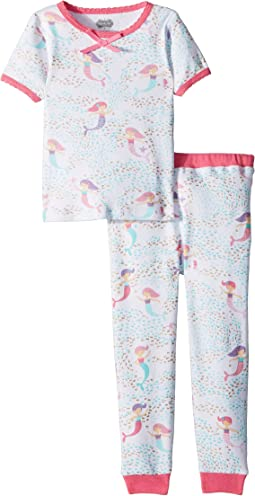 Mud Pie Mermaid Short Sleeve Pajama Set (Toddler)