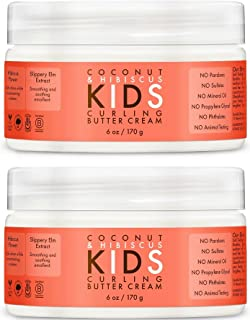 Shea Moisture Coconut & Hibiscus Kids Curling Butter Cream, 6 Ounce, 2Pack