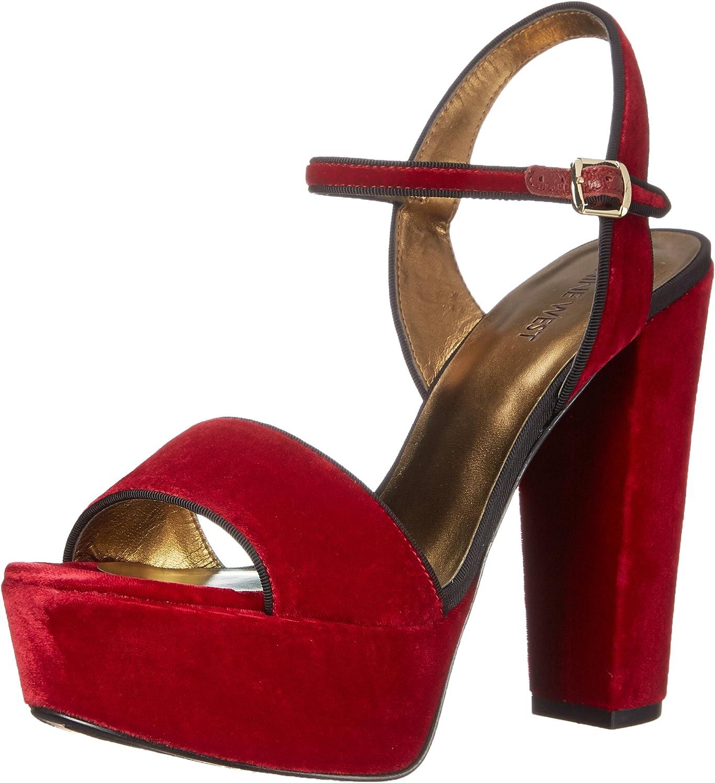 Nine West Women's Carnation Fabric Platform Sandal