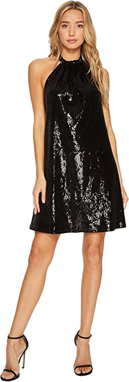 Bishop + Young - Sequin Halter Dress