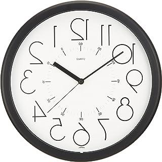 さんてる 日本製掛け時計 逆転時計 脳トレ! ホワイト QL886Wh