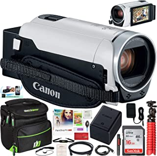 Canon VIXIA HF R800 Camcorder with 57x Advanced Zoom, 3.28MP White Bundle with 16GB Memory Card, Camera Bag for DSLR and Mirrorless Cameras and Paintshop Pro 2018 Digital Download