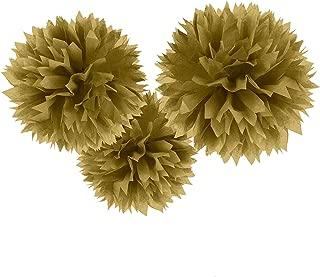 Gold Fluffy Paper Pompoms | Party Decor