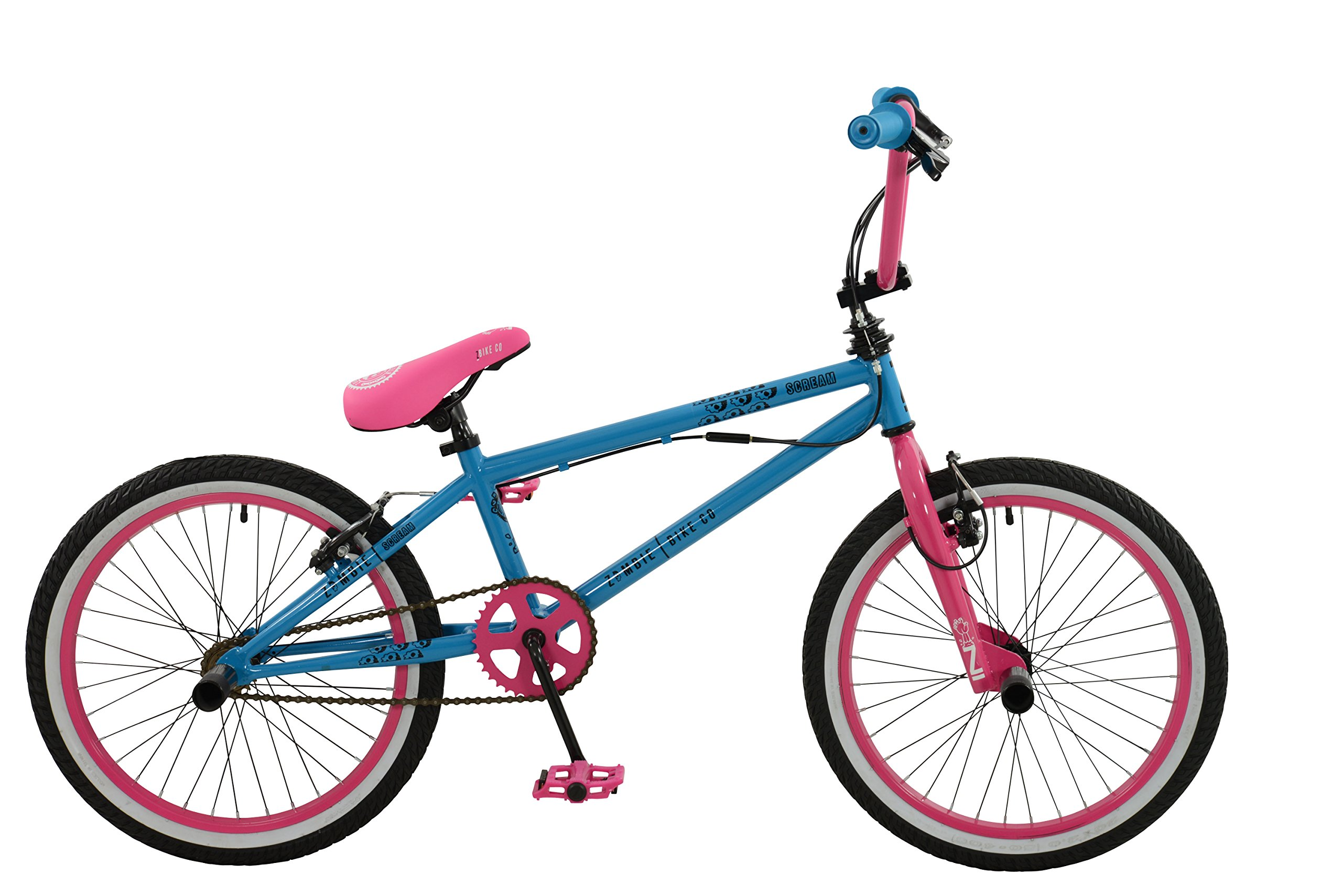 Zombie Girl Scream Bicicleta, Azul/Rosa, tamaño 20: Amazon.es ...