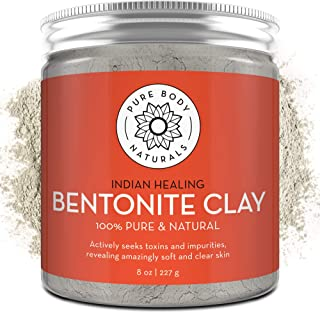 Pure Bentonite Powder for DIY Detox Bath & Facial Mask, Pure Indian Healing Clay for..