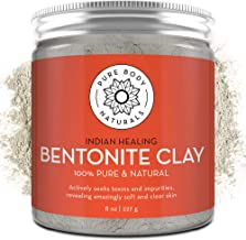 Best Pure Bentonite Powder for DIY Detox Bath & Facial Mask, Pure Indian Healing Clay for Burns, Mastitis, Inflamed or Chapped Skin (8.0 oz) - Pure Body Naturals Review