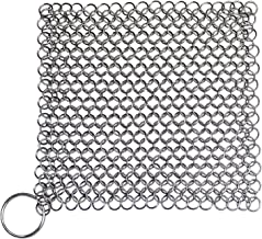 Angelia Cast Iron Stainless Steel Chainmail Cleaner (7x7-inch)