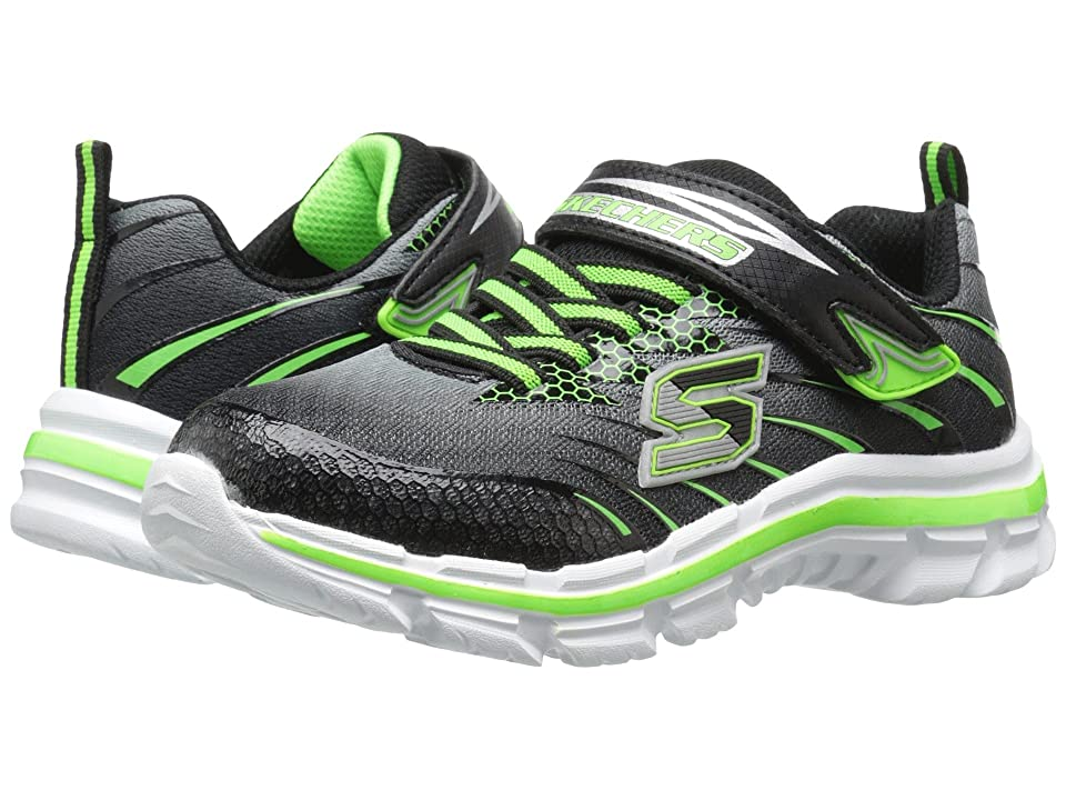 SKECHERS KIDS Nitrate Pulsar 95346L (Little Kid/Big Kid) (Black/Lime) Boy