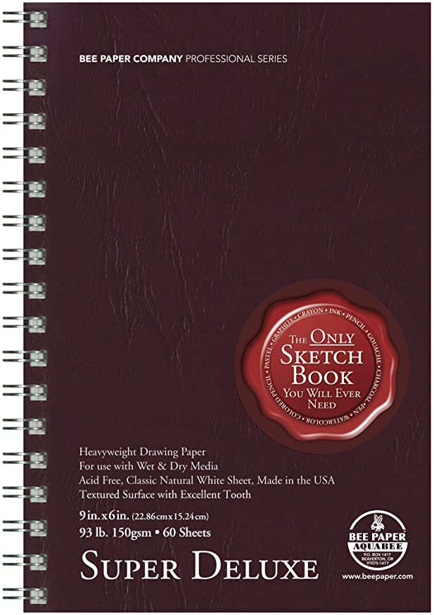 Bee Paper Super Deluxe Sketch Pad, 6-Inch L by 9-Inch H