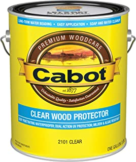 Cabot 140.0002101.007 Clear Wood Protector, Clear - 1 Gallon