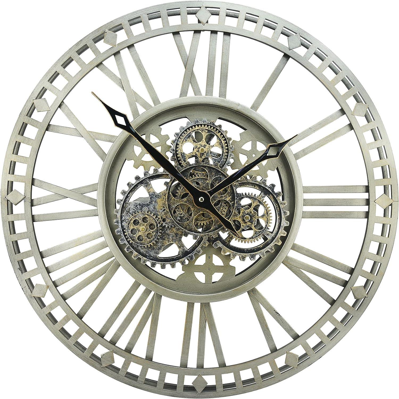 DORBOKER 24'' Inch 通販 Real Moving 迅速な対応で商品をお届け致します Gears Wall Decorat 3D Clock Retro