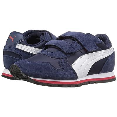 Puma Kids ST Runner NL V PS (Little Kid) (Peacoat/Puma White/High Risk Red) Boys Shoes