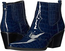 Baltic Navy Soft Croco Patent Leather