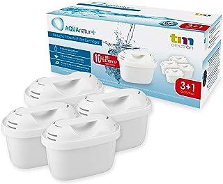 TM Electron TMFIL004+ Pack de 4 a 8 Meses compatibles con Las jarras Brita Maxtra+, 1 Filtro purifica de 100 a 200 litros de Agua, Blanco, 4 Unidades